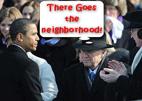Cheney greets Obama at the Inauguration
