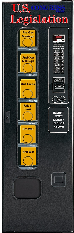 U.S. Congress Brand Legislation Vending Machine