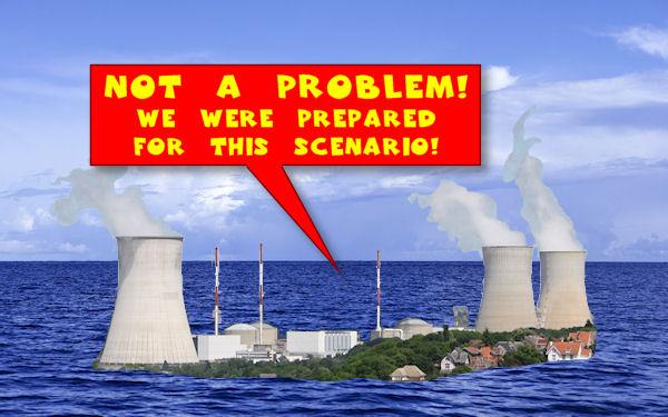 NRC spokesmen claim flooding around a Nebraska nuclear power plant poses no threat.