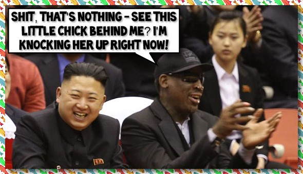 Semi-miraculously only 72-hours after meeting Dennis Rodman (Click the image to read the full story at CNN.com)